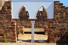 Silves historical castle in the Algarve Portugal Royalty Free Stock Photos