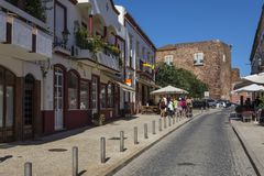 Silves i Portugal Royaltyfri Foto
