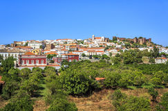 Silves with  medieval cathedral and castle, Portugal Royalty Free Stock Image