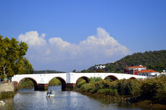 Silves in Portugal. Silves, bridge over the river Arade in Portugal Stock Photo