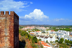 Silves view from the historical castle in the Algarve Royalty Free Stock Image