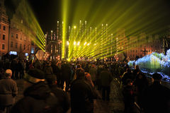 Silvester伊芙在Wroclaw 2011年 免版税库存图片