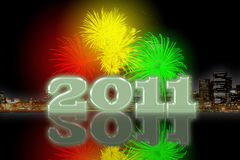 Silvester 2011. Background can use the Internet, print advertising and design Stock Images
