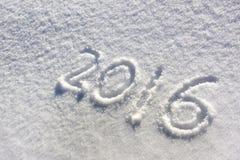 Silvester 2016 en nieve Imágenes de archivo libres de regalías