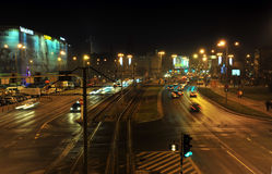 Silvester Eve en el Wroclaw Fotos de archivo
