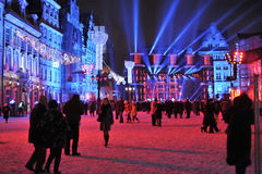 Silvester Eve in Wroclaw stock photos