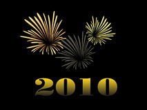 Silvester firework. Vector illustration of a firework Royalty Free Stock Images