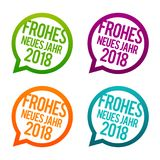 Silvester - Frohes neues Jahr 2018 Buttons. Eps10 Vector Stock Photography