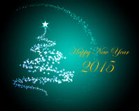 Silvester greeting card 2015 Stock Images