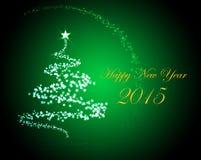 Silvester greeting card 2015 Stock Photos