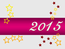 Silvester greeting card 2015 Stock Image