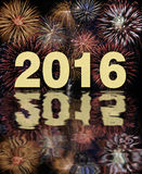 Silvester party 2016 with firework Royalty Free Stock Photo