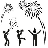 Silvester party Pictogram vector illustration