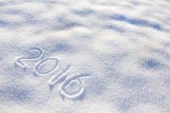 Silvester 2016 in sneeuw Stock Foto's