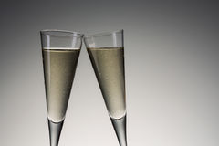 Silvester toast with cold champagne Royalty Free Stock Photography