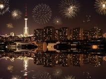 Silvesterabend in Berlin Stockbilder