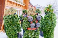 Silvesterklaus, юлианский Новый Год, Appenzell, Швейцария Стоковое Изображение RF