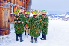 Silvesterklaus, Julian New Year, Appenzell, Suíça Imagem de Stock Royalty Free