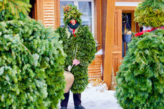 Silvesterklaus, Julian New Year, Appenzell, Suíça Imagem de Stock