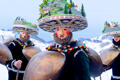 Silvesterklaus, Julian New Year, Appenzell, Suiza Foto de archivo libre de regalías