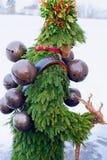 Silvesterklaus, Julian New Year, Appenzell, Suiza Fotografía de archivo libre de regalías