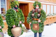 Silvesterklaus, Julian New Year, Appenzell, Suiza Imagenes de archivo