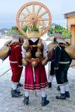 Silvesterklaus, Julian New Year, Appenzell, Svizzera Fotografia Stock Libera da Diritti