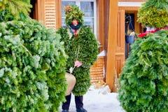 Silvesterklaus, Julian New Year, Appenzell, Svizzera Immagine Stock