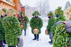 Silvesterklaus, Julian New Year, Appenzell, Switzerland stock images