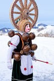 """Silvesterchlausen Celebrating New Year in the Canton of Appenzell Ausserrhoden, Urnasch, Switzerland. January 13, 2016. """"Silvesterchlausen"""" is a stock photography"""