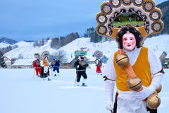 Silvesterklaus, Julian New Year, Appenzell, Zwitserland Stock Fotografie