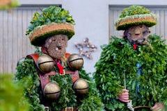 Silvesterklaus, Julian New Year, Appenzell, Zwitserland Stock Afbeeldingen