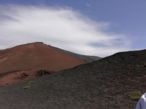 Red craters - Etna Volcano royalty free stock photo