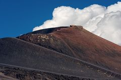 Silvestri Craters - Etna Volcano - Sicily Italy. Silvestri craters eruption of the year 1892, mount Etna Volcano in Sicily island, Catania, Italy Sicilia, Italia stock photos