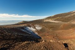 Silvestri Craters - Etna Volcano - Sicily Italy. Silvestri craters eruption of the year 1892, mount Etna Volcano in Sicily, Catania, Italy Sicilia, Italia stock photo