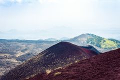 Silvestri Craters of Mount Etna, active volcano on the east coast of Sicily, Italy.  stock photography