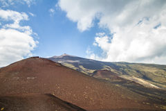 Silvestri craters of Mount Etna royalty free stock images
