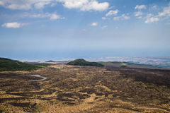 Silvestri craters of Mount Etna Stock Image