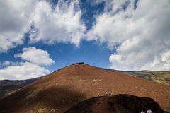 Silvestri craters of Mount Etna royalty free stock image