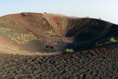 silvestri etna кратеров Стоковое Изображение