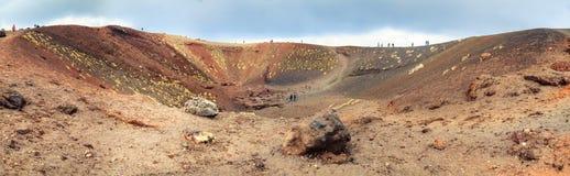 Silvestri krater av Etna Arkivbild