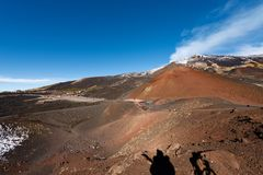 Silvestri krater - Etna Volcano - Sicilien Italien Arkivfoto