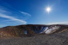 Silvestri krater - Etna Volcano - Sicilien Italien Royaltyfri Fotografi