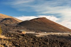 Silvestri krater - Etna Volcano - Sicilien Italien Arkivbild