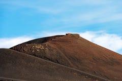 Silvestri krater - Etna Volcano - Sicilien Italien Royaltyfri Foto