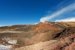 Silvestri krater - Etna Volcano - Sicilien Italien Royaltyfria Bilder