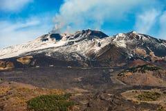 Silvestri krater - Etna Volcano - Sicilien Italien Arkivbilder