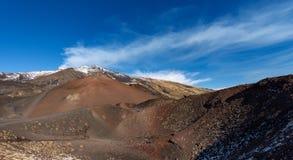 Silvestri krater - Etna Volcano - Sicilien Italien Arkivfoton