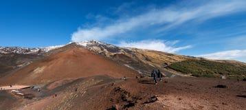 Silvestri krater - Etna Volcano - Sicilien Italien Fotografering för Bildbyråer