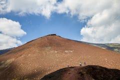 Silvestrikraters van Onderstel Etna stock foto's